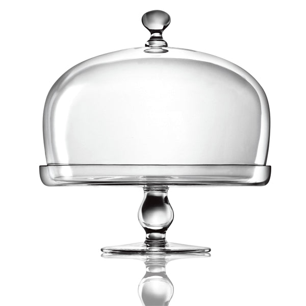Michelangelo Footed Cake Plate with Dome (1 Piece) - Luigi Bormioli