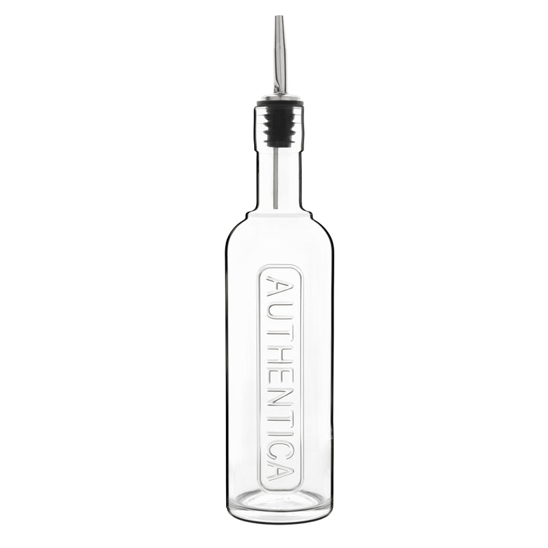 Optima 17 oz Authentica Bottle with Silicone / Stainless Steel Pourer (1 Piece) - Luigi Bormioli