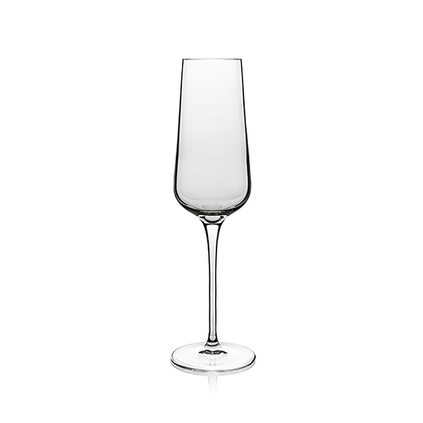 Intenso 8.25 oz Flute for Sparkling Wine (Set Of 6) - Luigi Bormioli