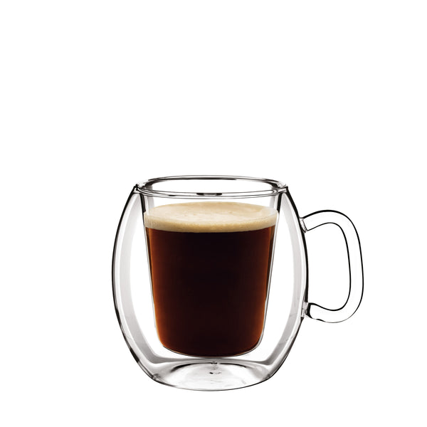 Thermic Glass 10.25oz Coffee Glasses (Set of 2) - Luigi Bormioli