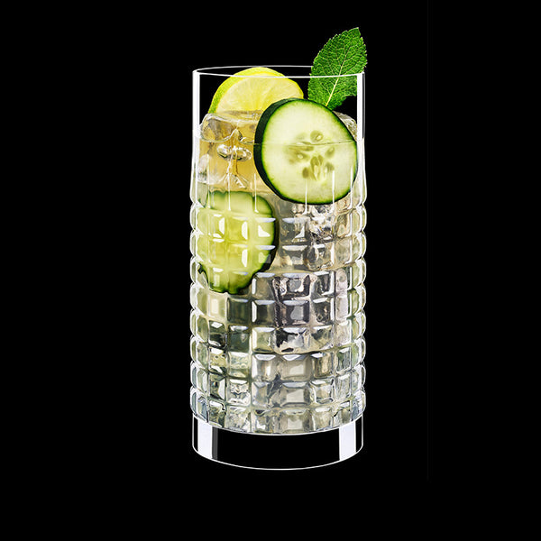 Mixology 16.25 oz Charme Hi-Ball Drinking Glasses (Set Of 4) - Luigi Bormioli USA