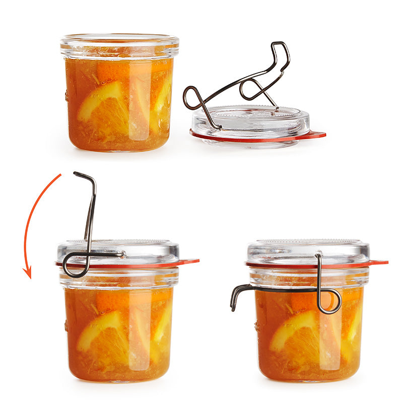 Lock-Eat 2.75 oz Food Jar (Set Of 6) - Luigi Bormioli