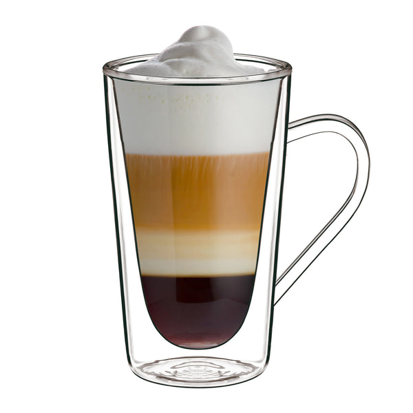 Thermic Glass 14 oz Hot Drink Cup (Set Of 2) - Luigi Bormioli USA