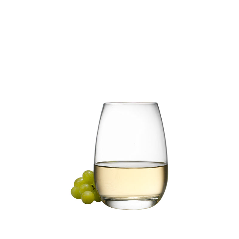 Michelangelo Masterpiece 15.5 oz Stemless Drinking Glasses (Set Of 4) - Luigi Bormioli USA