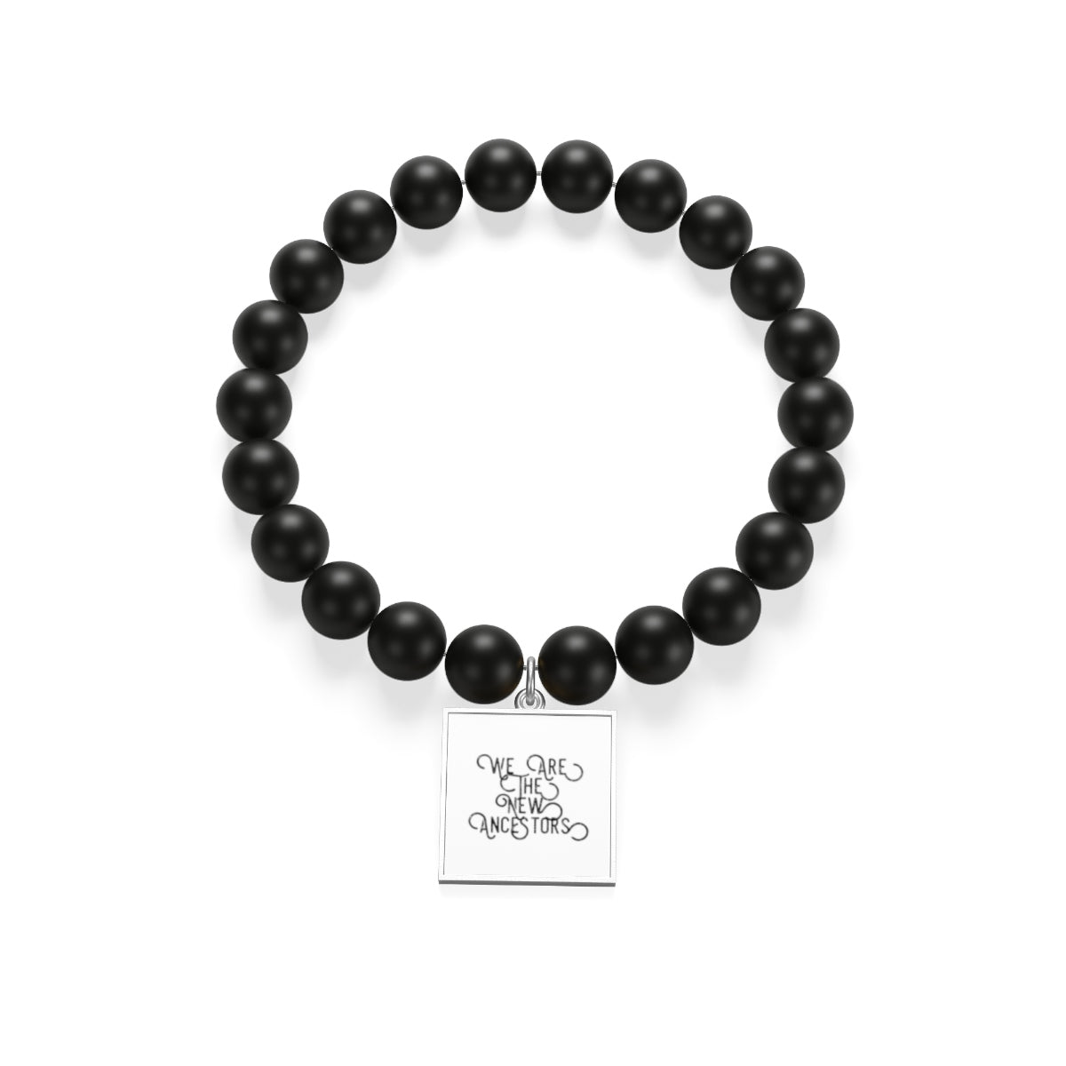 We Are The New Ancestors Matte Onyx Bracelet