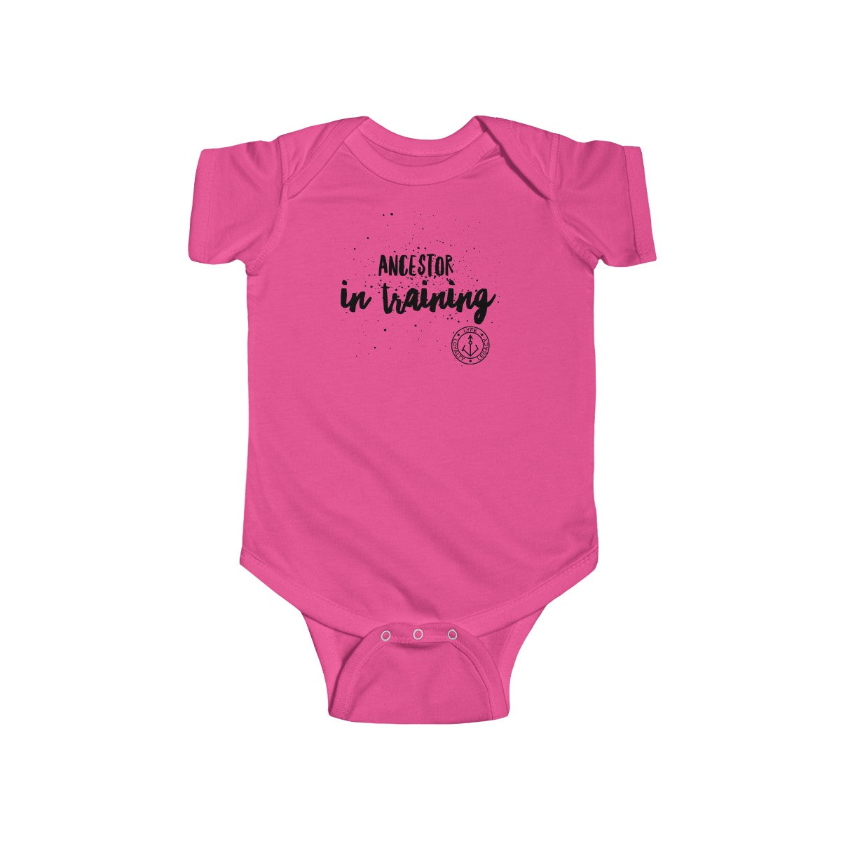 Infant Ancestor in Training Jersey Bodysuit (black)