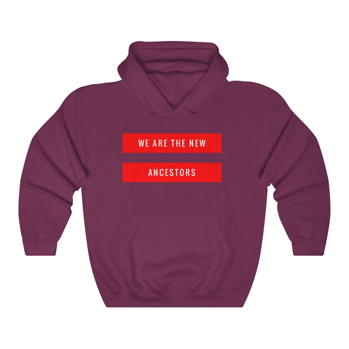 Unisex New Ancestor Red Bar Hoodie