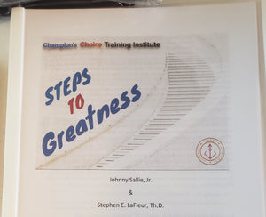 Steps To Greatness Booklet