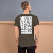 Load image into Gallery viewer, Short-Sleeve Unisex T-Shirt: Adventure Post Game Map