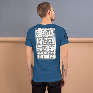 Short-Sleeve Unisex T-Shirt: Adventure Post Game Map