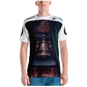 Men's T-shirt: All-Over Adventure Post Swag - The Bell of Courage