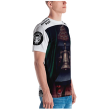 Load image into Gallery viewer, Men's T-shirt: All-Over Adventure Post Swag - The Bell of Courage