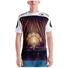 Load image into Gallery viewer, Men's T-shirt: All-Over Adventure Post Swag - The Candle of Love
