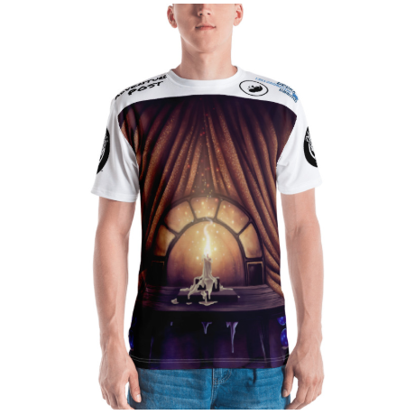 Men's T-shirt: All-Over Adventure Post Swag - The Candle of Love