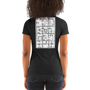 Ladies' short sleeve t-shirt: Adventure Post Game Map
