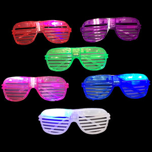 Flashing Shutter Shade Party Glasses