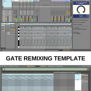 Broken Techno drum loops + Gate Remixing template