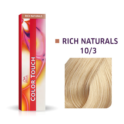 Wella Color Touch 10/3 Lightest Blonde/Gold Demi-Permanent