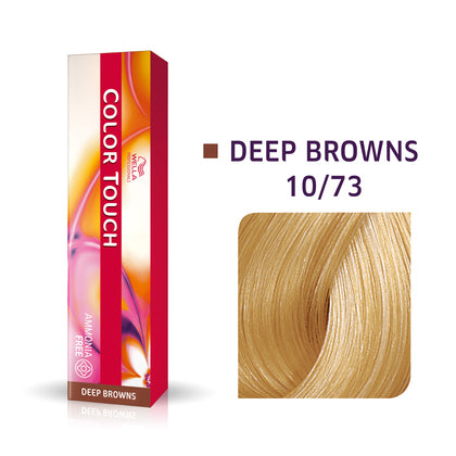 Wella Color Touch 10/73 Lightest Blonde/Brown Gold Demi-Permanent