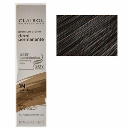 Clairol Professional Soy4Plex Cream Demi Permanente Hair Color 1N Neutral Black