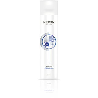 Nioxin Strong Hold Niospray ~ a finishing spray for hair that is medium to coarse