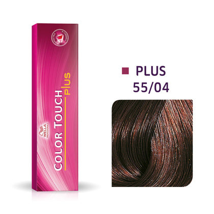 Wella Color Touch Plus 55/04 Intense Light Brown/Natural Red Demi-Permanent