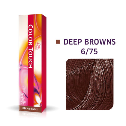 Wella Color Touch 6/75 Dark Blonde/Brown Red-Violet Demi-Permanent