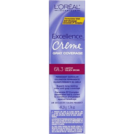 Loreal Excellence Creme 6-1/2.3 Lightest Golden Brown