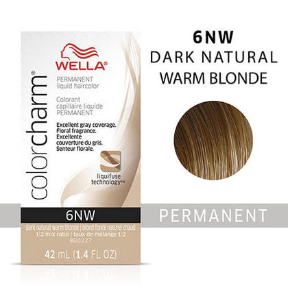 Wella Color Charm Liquid Permanent Hair Color 6NW/006NW - Dark Natural Warm Blonde