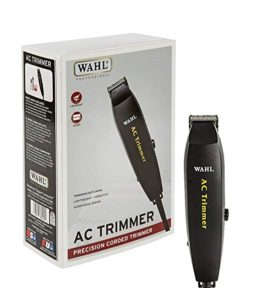 Wahl #8040 AC Trimmer High Precision Blades and Scoop Nose Design by Wahl Professional