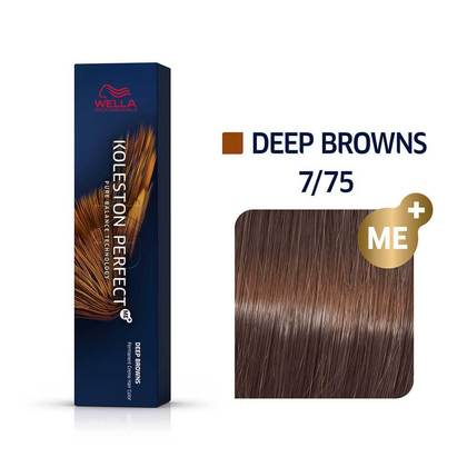 Wella Koleston Perfect 7/75 ME+ Medium Blonde/Brown Red-Violet Permanent