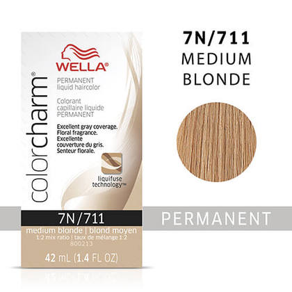 Wella Color Charm Liquid Permanent Hair Color 7N - Medium Blonde