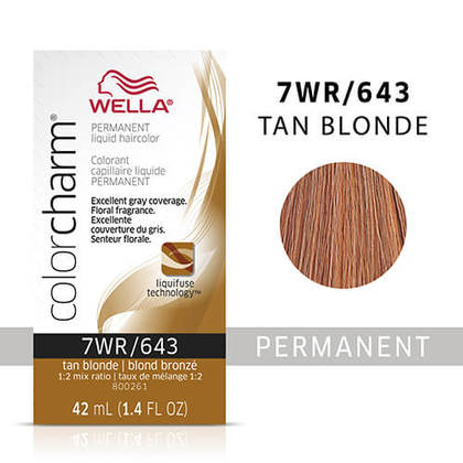 Wella Color Charm Liquid Permanent Hair Color 7WR - Tan Blonde