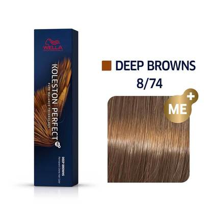Wella Koleston Perfect 8/74 ME+ Light Blonde/Brown Red Permanent