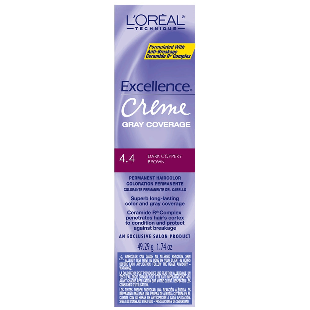 Loreal Excellence Creme 4.4 Dark Coppery Brown
