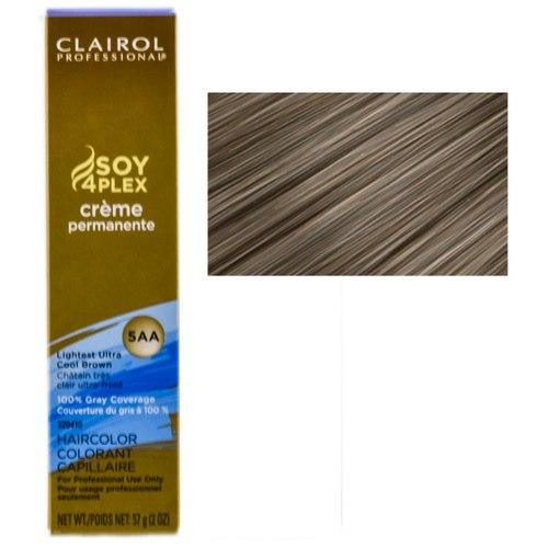 Clairol Professional Soy4Plex Creme Permanente Hair Color 5AA-Lightest Ultra Cool Brown