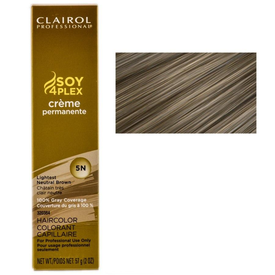 Clairol Professional Soy4Plex Creme Permanente Hair Color 5N-Lightest Neutral Brown