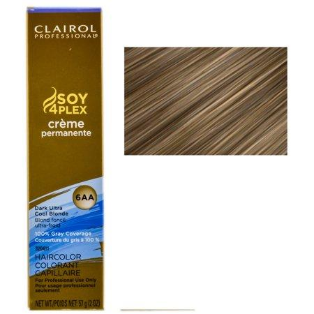 Clairol Professional Soy4Plex Creme Permanente Hair Color 6AA-Dark Ultra Cool Blonde