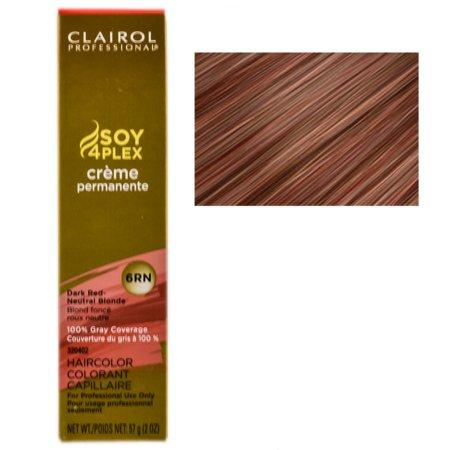 Clairol Professional Soy4Plex Creme Permanente Hair Color 6RN-Dark Red Neutral Blonde