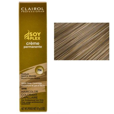 Clairol Professional Soy4Plex Creme Permanente Hair Color 7N-Medium Neutral Blonde