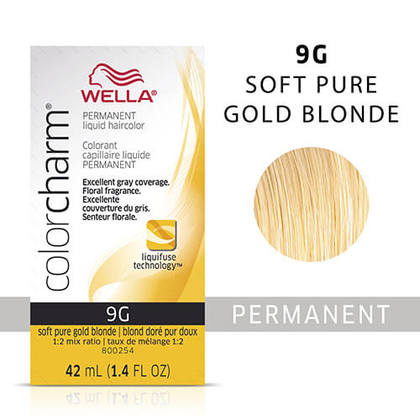 Wella Color Charm Liquid Permanent Hair Color 9G - Soft Pale Gold Blonde