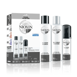 Nioxin 3-Part System #2 Hair System Kit ~ for natural hair with progressed thinning