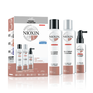Nioxin 3-Part System #3 Hair System Kit ~ for colored hair with light thinning