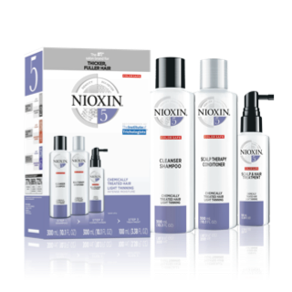 Nioxin 3-Part System #5 Hair System Kit ~ for chemically-treated hair with light thinning