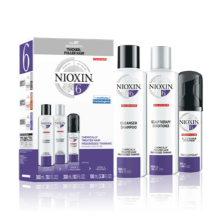 Nioxin 3-Part System #6 Hair System Kit ~ for chemically-treated hair with progressed thinning