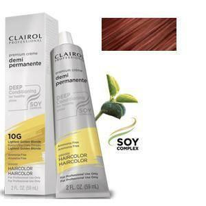 Clairol Professional Soy4Plex Creme Demi Permanente Hair Color 4R Light Red Brown