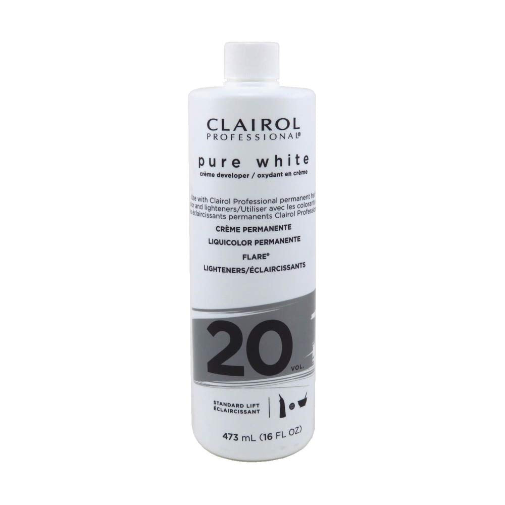Clairol Professional Soy4Plex Pure White Cream 20 Volume Peroxide (2-Sizes)