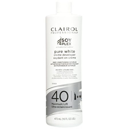 Clairol Professional Soy4Plex Pure White Cream 40 Volume Peroxide Pints