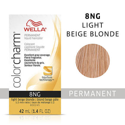 Wella Color Charm Liquid Permanent Hair Color 8NG - Light Beige Blonde