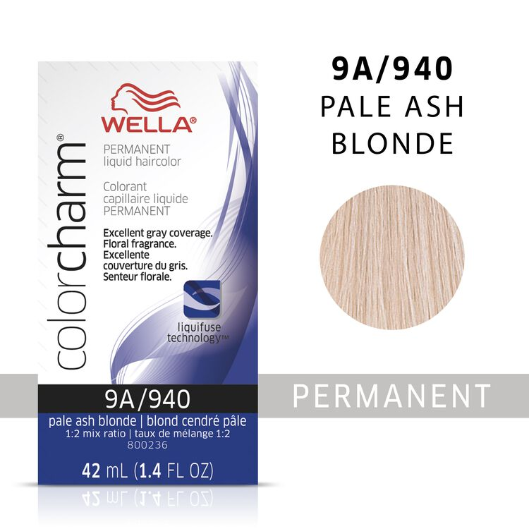 Wella Color Charm Liquid Permanent Hair Color 9A - Pale Ash Blonde